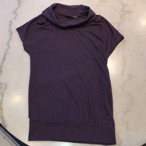 Juicy Couture wool blend purple stripe cowl top. M